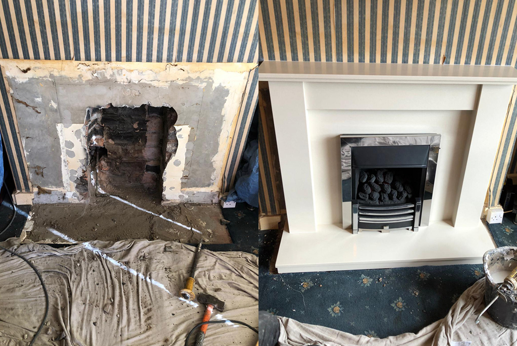 Melbourne Marble Fireplace