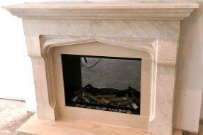 Classic in limestone & electric fire