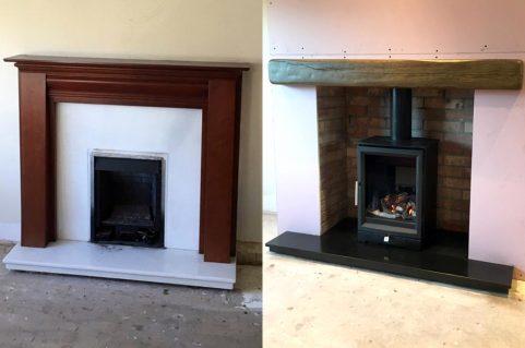 Cowboy Fireplace – Balanced flue gas stove