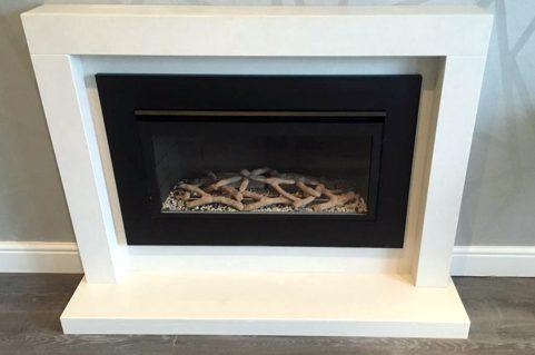 Boston gas fire – all black trim